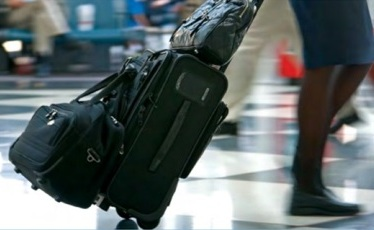 Voyageur à l'aéroport Bamako Senou. Photo journaldumali