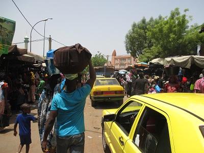 Vue sur le centre du grand marché d'Haraïda. Crédit photo Jeuneivoiromalien